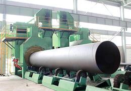 D1640型钢管抛丸机除锈组