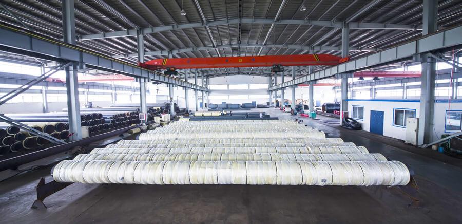 钢套钢保温管生产车间